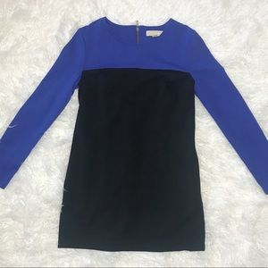 Michael Kors long sleeve dress color block design
